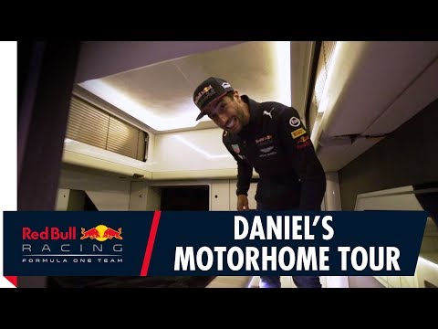F1 Cribs. Daniel Ricciardo's Motorhome for Europe