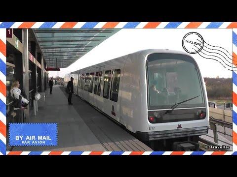 Copenhagen Metro Train at DR Byen Metro Train Station in Copenhagen, Denmark - København´s Metro