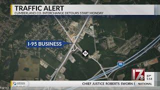 Cumberland County interchange detours start Monday