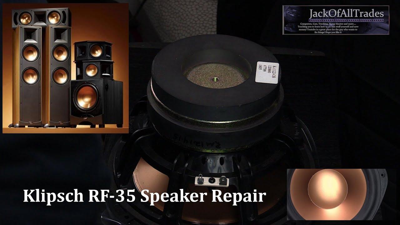 Klipsch RF-35 Speaker Repair And Tear Down