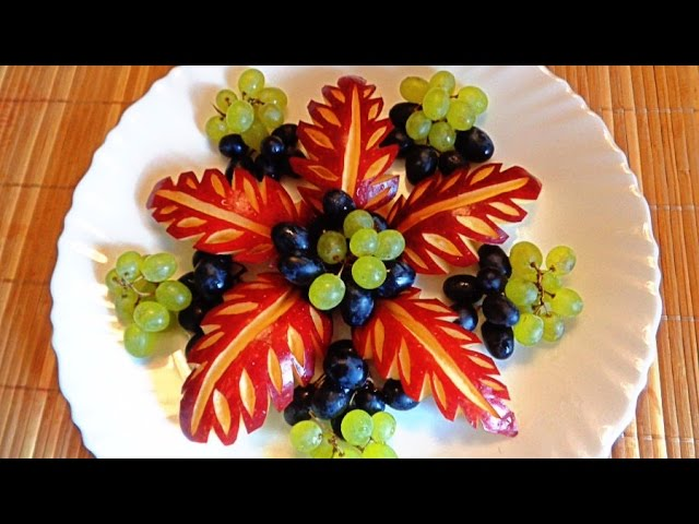 4 LIFE HACKS  HOW TO MAKE APPLE LEAF  - FLOWER GARNISH - FRUIT CARVING & HOW TO CUT APPLE  FRUIT