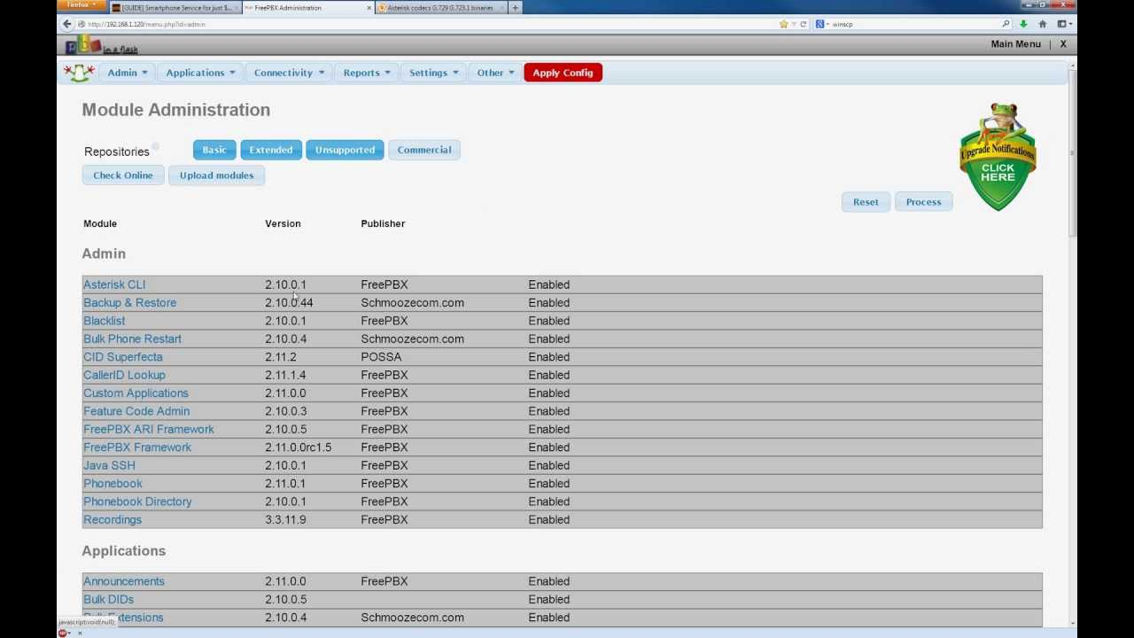 FreePBX VoIP Tutorial Part 10 - Module updates + Backup & Restore