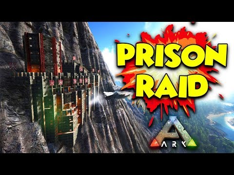 ATTACK ON THE PRISON - ( Ragnarok ) ARK Duo Survival Series #10