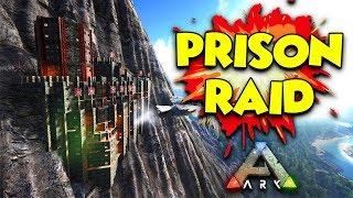ATTACK ON THE PRISON - ( Ragnarok ) ARK Duo Survival Series #10