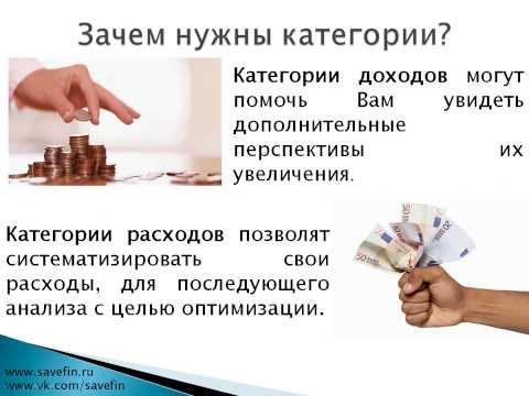 Как определить размер доходов и расходов, выделяем категории?