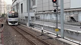 横須賀線E217系横クラY-2編成+横クラY-131編成普通成田空港・鹿島神宮行き横浜駅到着