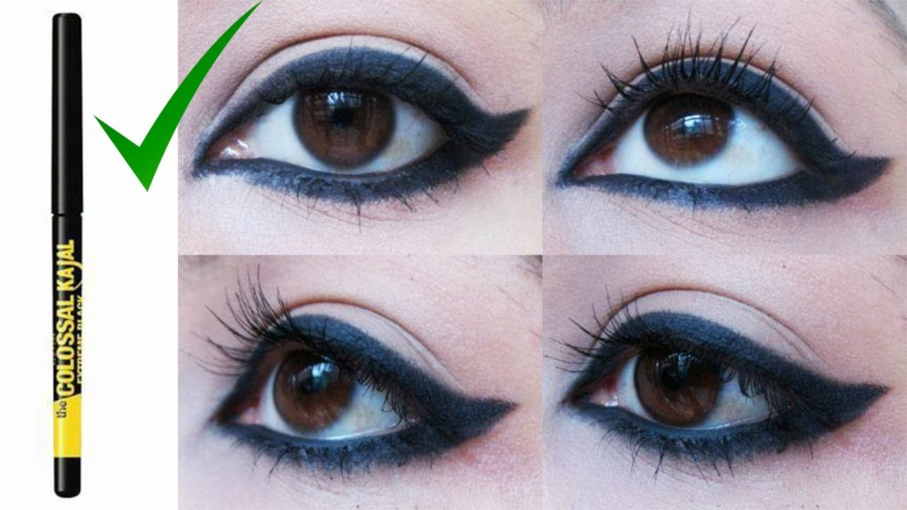HOW TO APPLY KAJAL IN DIFFERENT WAYS!! SO EASY!! 9 DIFFERENT WAYS TO APPLY  KAJAL  ShikhasCorner