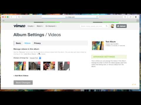 Deleting Albums and Videos in Albums in Vimeo HD