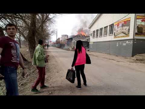 пожар в центре г.Кондрово на ул  Кооперативная 16.04.2018