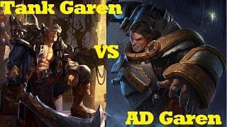 Tank Garen VS AD Garen - League of Legends Live Commentary