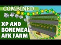 Minecraft XP Farm and Bonemeal Farm COMBINED for 1.14 | AFK XP and Bonemeal (with Avomance 2019)