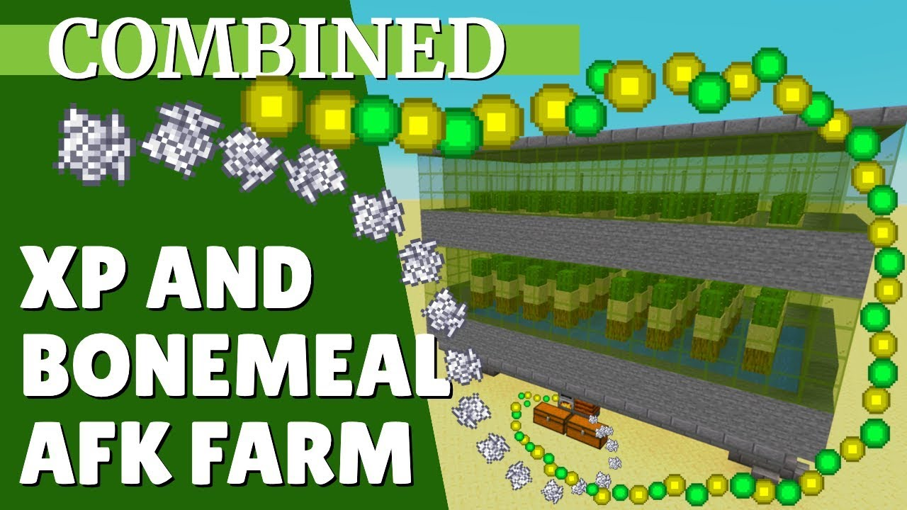 Minecraft Xp Farm And Bonemeal Farm Combined For 114 Afk Xp And Bonemeal With Avomance 2019