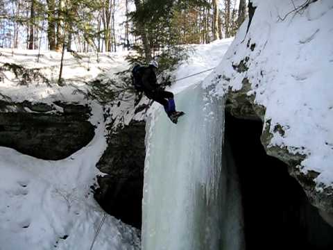 Munising Michigan Ice Climbing