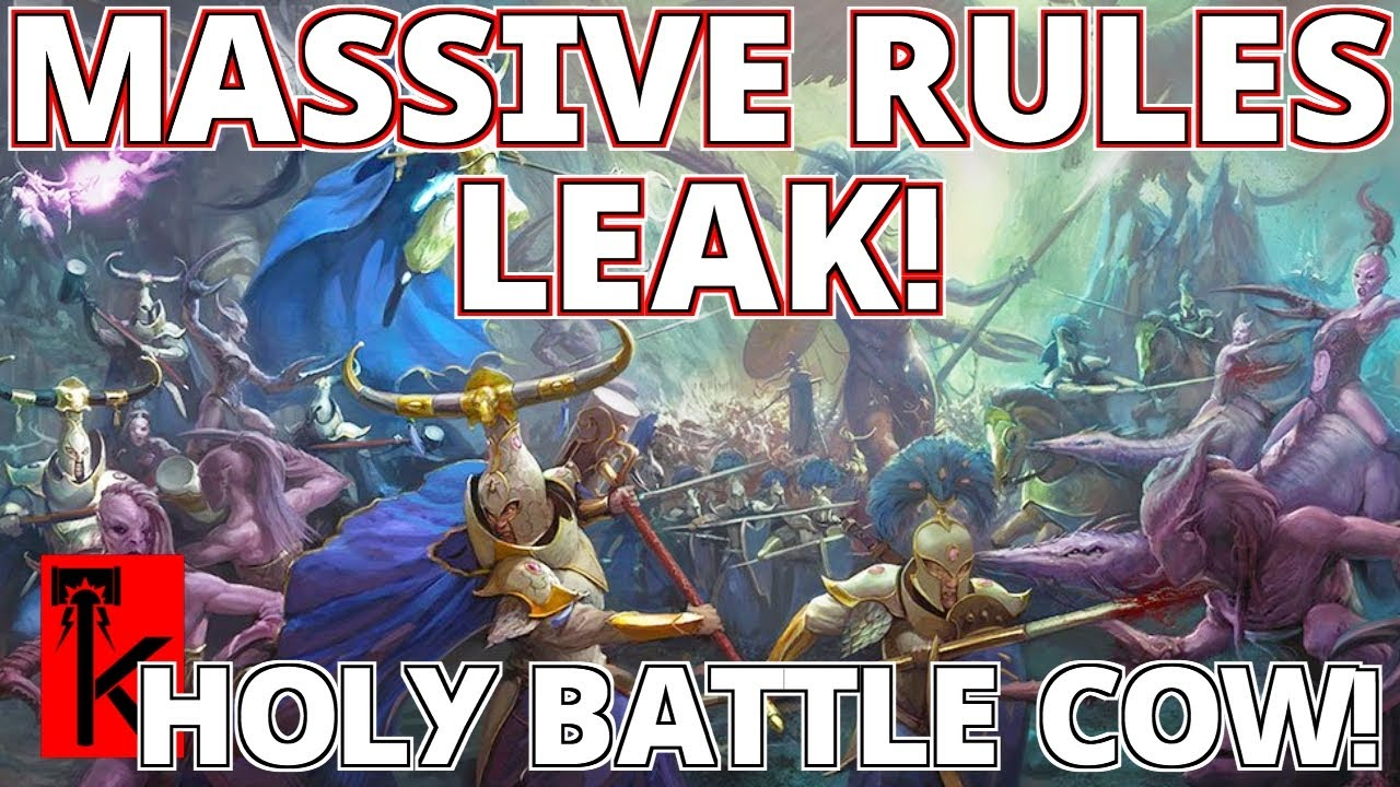HUGE LUMINETH RULES LEAK!! Points / Warscrolls / No Tyrion / Lots of Cows - Warhammer: Age of Sigmar