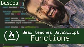 Functions - Beau teaches JavaScript thumbnail
