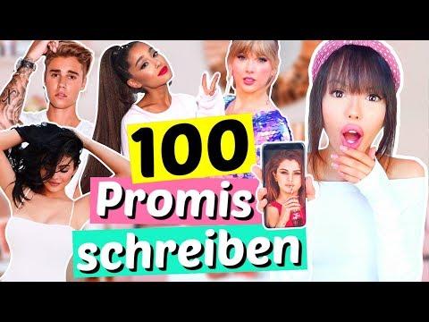 Wir bekommen Antworten!! 😱 100 PROMIS auf Instagram anschreiben 🙊   ViktoriaSarina