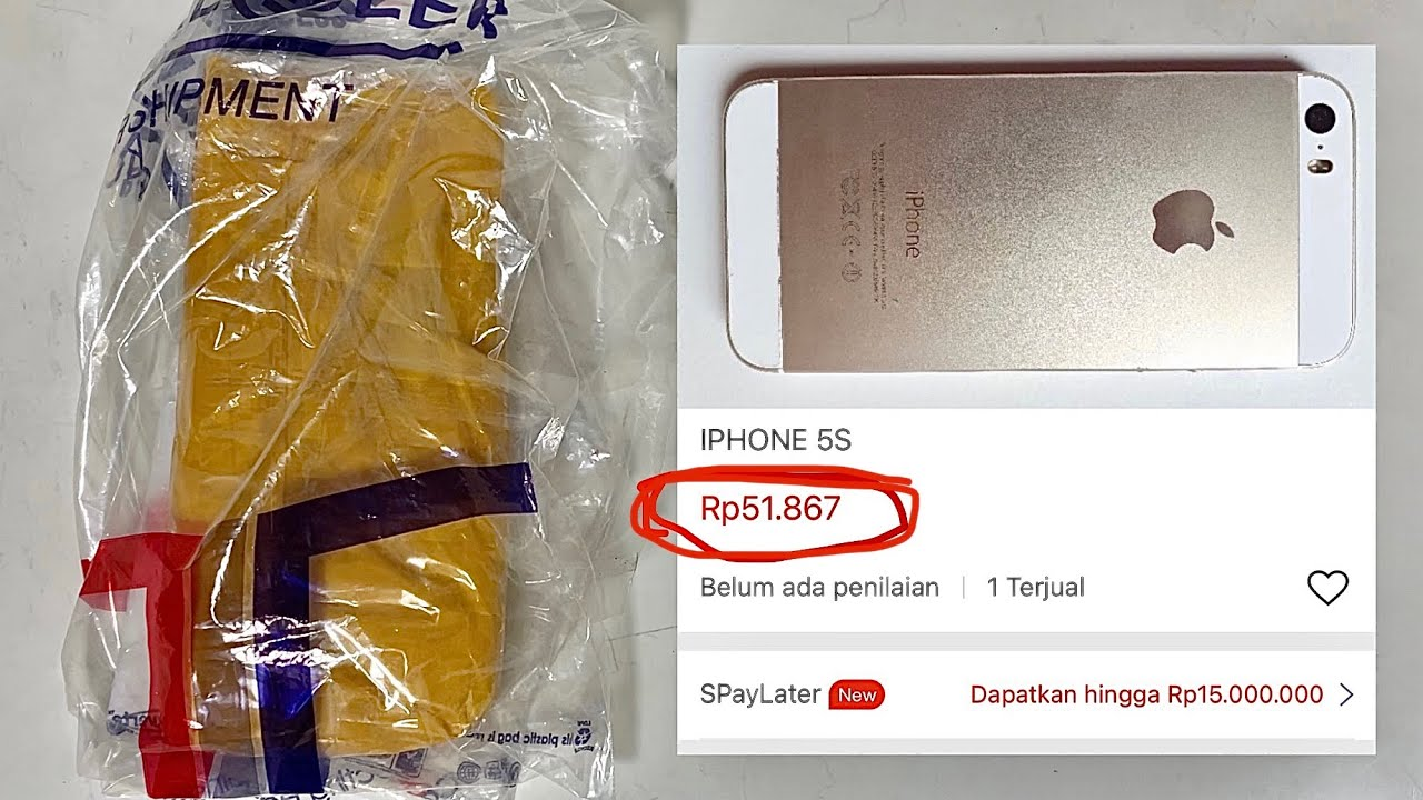 Beli iPhone original Apple murah meriah di Shopee cuman 50 ribu an