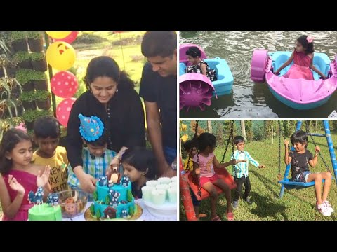 Advay's Fun park Birthday party with friends...boating and games