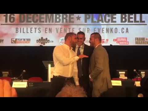BILLY JOE SAUNDERS TELLS DAVID LEMIEUX - I AM GYPSY -CHIN OF GRANITE -ILL PUT YOU OUT LIKE A CANDLE!