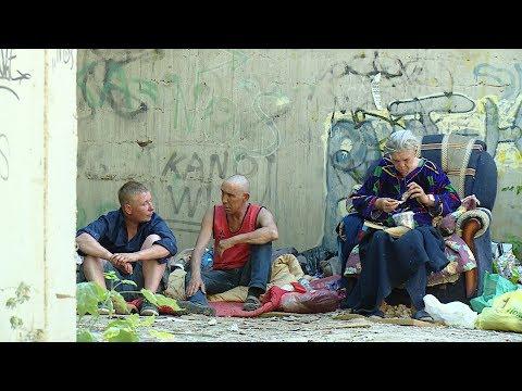 Группа бездомных обосновалась в жилом массиве Волгограда
