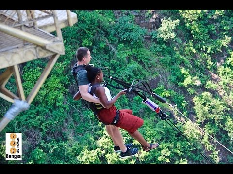 THAT TIME I JUMPED OFF A BRIDGE: Victoria Falls Bridge Swing (Zambia, Africa)