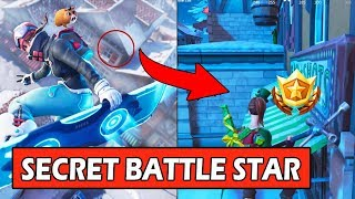 SECRET WEEK 4 BATTLE STAR LOCATION *LOADING SCREEN* FORTNITE HIDDEN BANNER WEEK 4 (SNOWFALL)