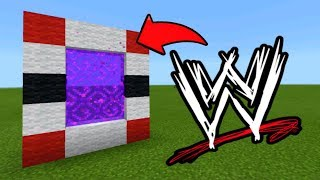 Minecraft Pe How To Make a Portal To The WWE Dimension - Mcpe Portal To The WWE!!!