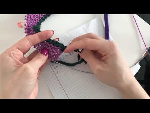 4. делаем расчеты на реглан   вяжем отверстие для пуговиц