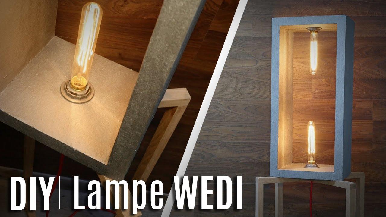 comment construire une lampe en wedi & bois ! - youtube