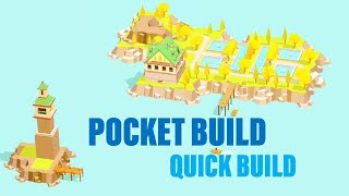 Quick build (island) | Pocket Build - gameplay -