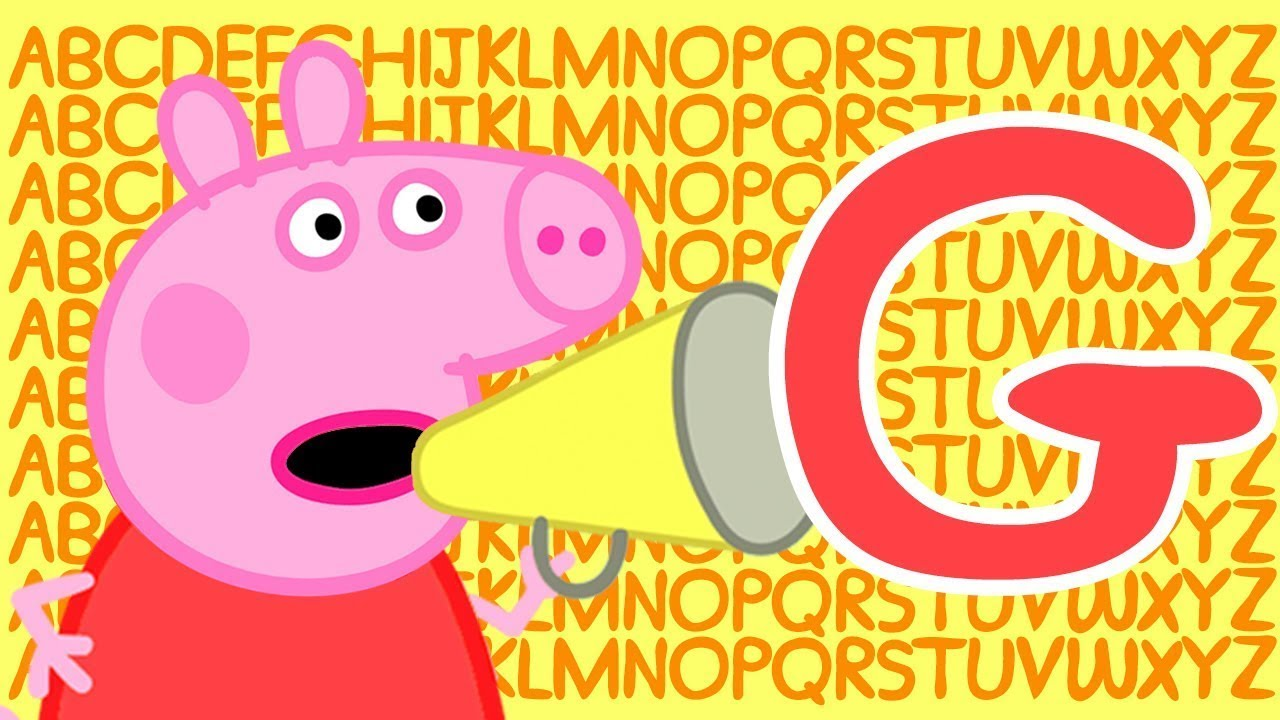 Peppa Pig 🔠 Letter G   Learn the Alphabet with Peppa Pig   ABC Letter Boxes   Learn with Peppa Pig