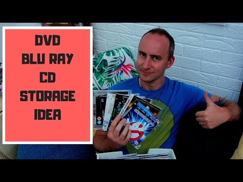CD DVD AND BLU RAY STORAGE IDEA