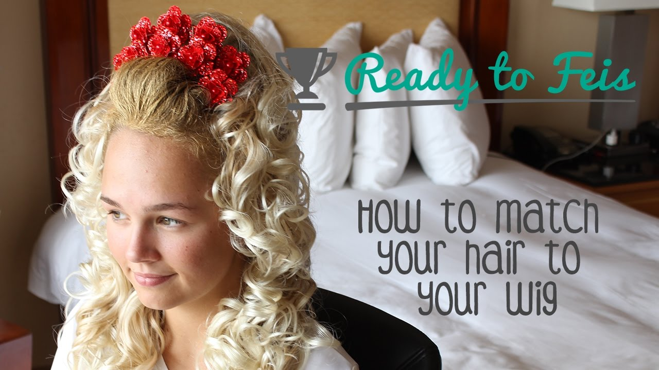 How To Make Your Hair Color Match Your Wig For Irish Dance Youtube