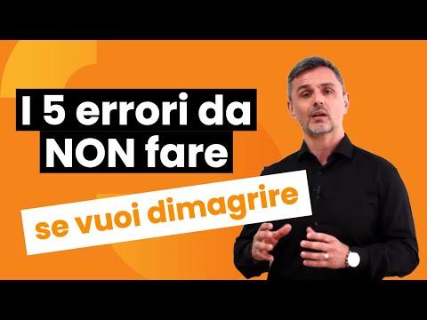 I 5 errori da non fare se vuoi dimagrire | Filippo Ongaro