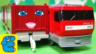 プラレール EH500金太郎改造・19G形コンテナ Plarail Upgrade EH500 Kintaro, Type 19G Containers [English Subs]