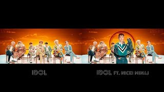 BTS (방탄소년단) 'IDOL' M/V COMPARISON (original VS Nicki Minaj)