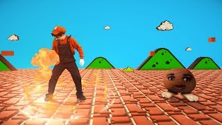 Super Mario Fireball vs Goomba