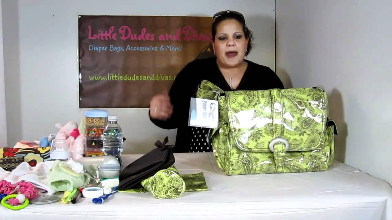Kalencom Laminated Buckle Bag Diaper Features