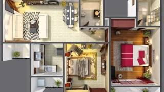 25 Two Bedroom House Or Apartment Floor Plans