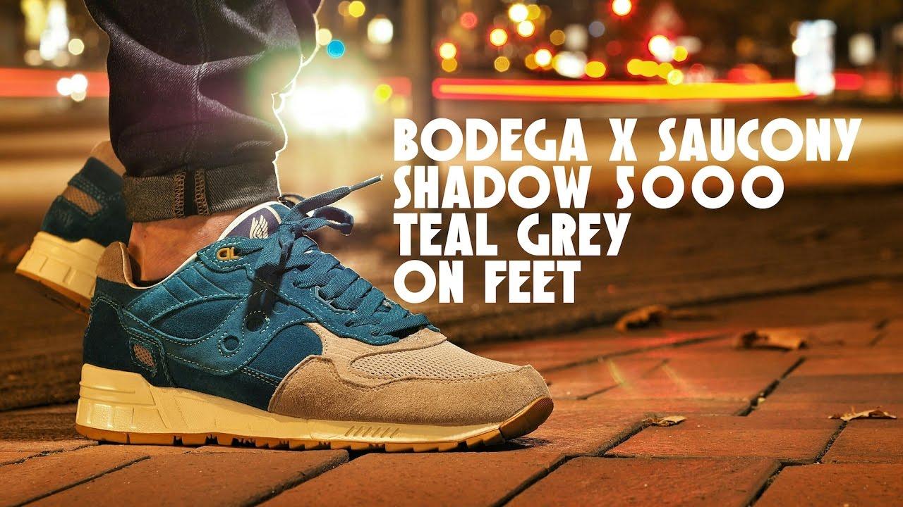 9206fdcd Bodega X Saucony Shadow 5000 Teal Grey On Feet - YouTube