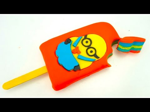 Пластилин для детей, лепим мороженое с миньонами. Учимся лепить из пластилина. Игрушкин ТВ