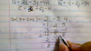 producto punto o escalar de vectores en 3 dimensiones (3 de 3)