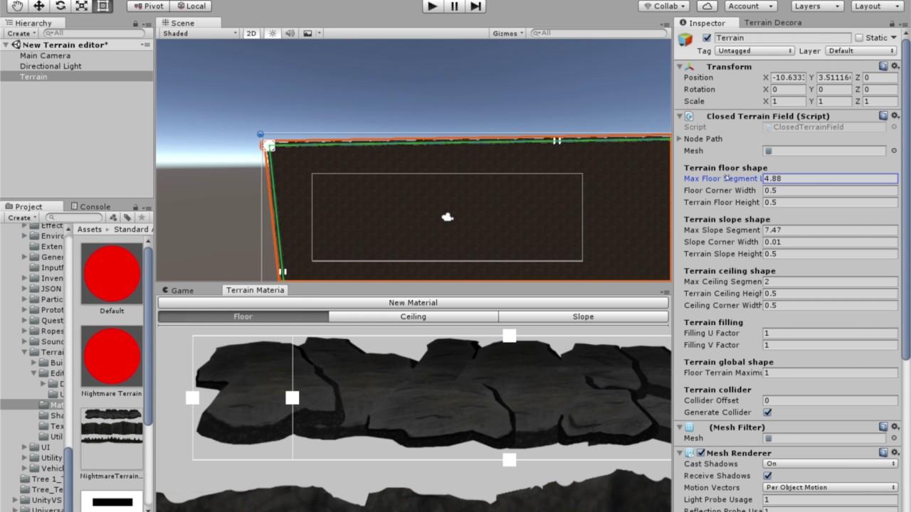 Unity 2D Terrain edition tools