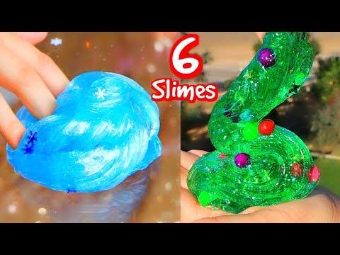 Download Youtube: 6 DIY Christmas Slimes! How To Holiday Slime!