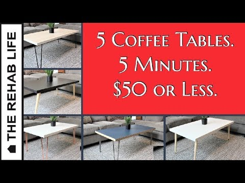 IKEA HACK: 5 Coffee Tables Under $50 You Can Make In 5 Minutes!
