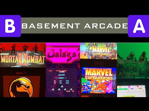 Playing MKII and TMNT Arcade1UP in The BASEMENT Arcade! 🕹 🐢  from Seaneleous
