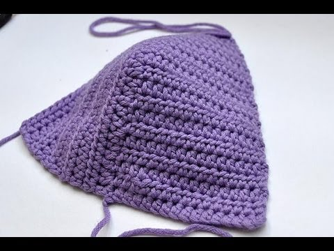 How To Crochet Bikini Top Bustier For Summer Top Youtube
