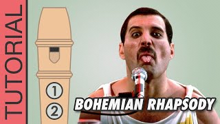 Bohemian Rhapsody (Queen) - Recorder Notes Tutorial - NOT EASY!!!