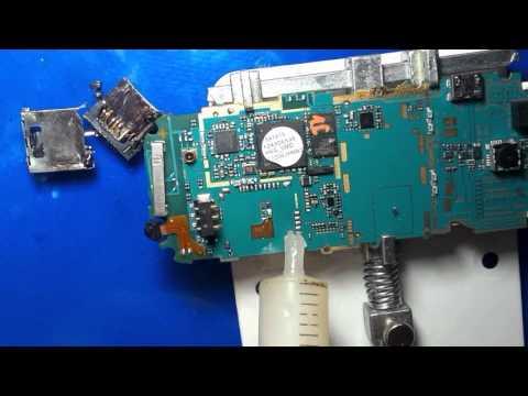 طريقة تغيير كونكتور كارت سيم change connecteur carte sim samsung e2200