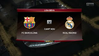 "FIFA 16 - FC Barcelona vs. Real Madrid ""El Clásico"" @ Camp Nou"